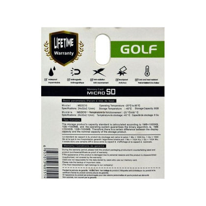 Golf 8GB Ultra Fast Memory Card  - Black
