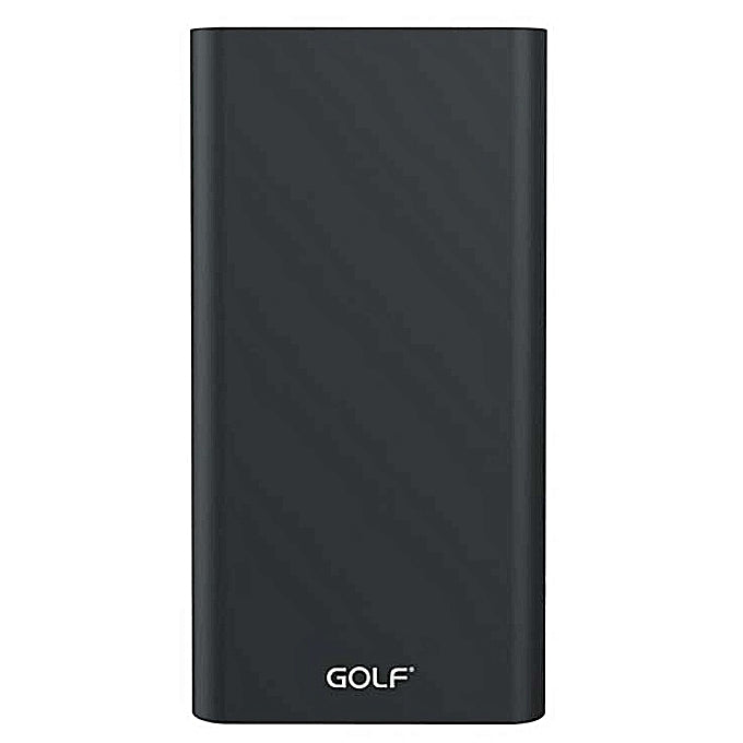 GOLF EDGE10 10,000mAh Mettalic Power Bank - Black