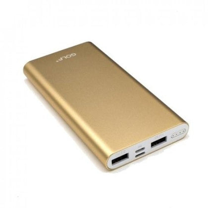 GOLF EDGE10 10,000mAh Mettalic Power Bank - Gold
