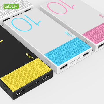 Golf Hive 10 10,000mAh Ultra Thin Power Bank - White