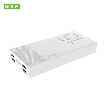 Golf Hive 15 15,000mAh Ultra Thin Power Bank - White