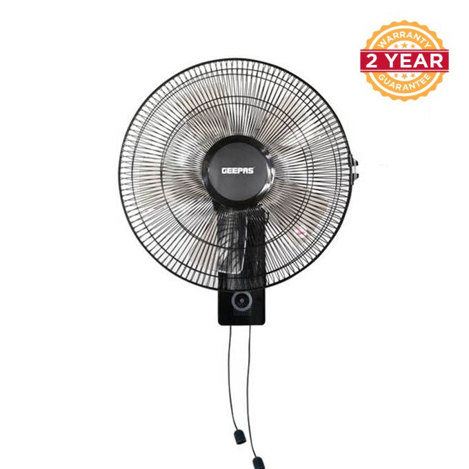 Geepas GF9483 Wall Mount Fan, 16inches - Black