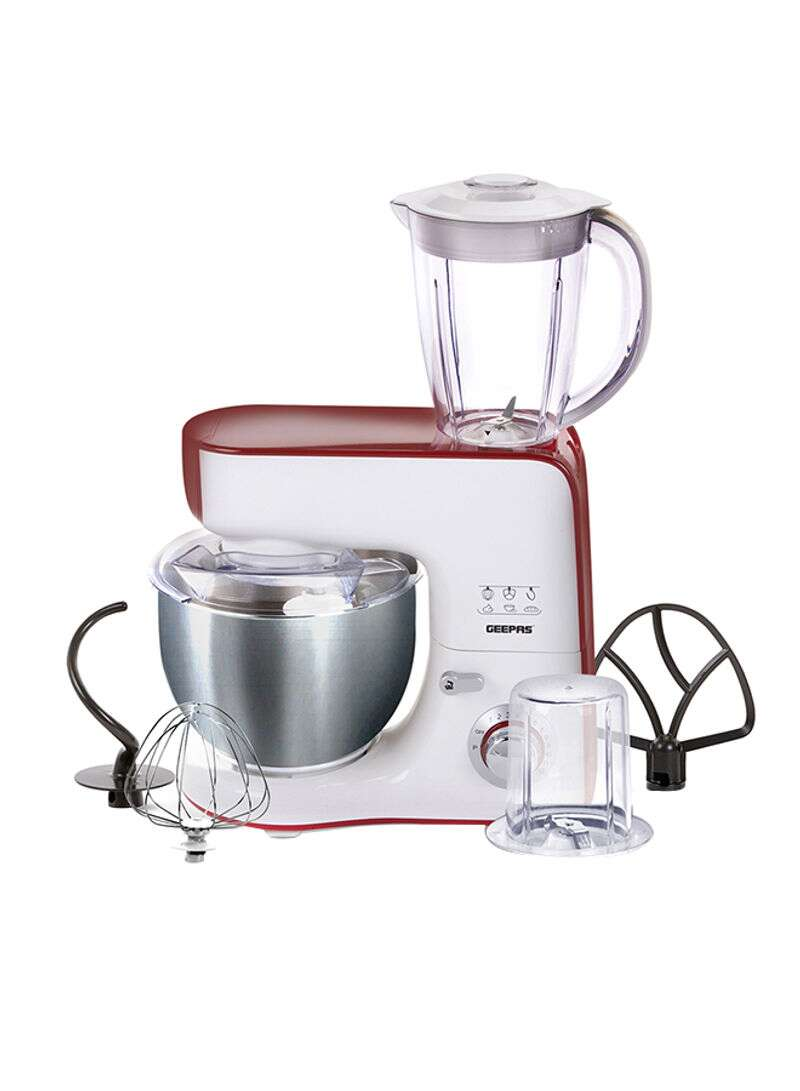 Geepas 5 in 1 Commercial Food Processor Stand Mixer GSM43011 - White