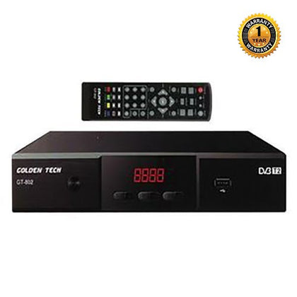 Golden Tech DVD/T2 HD Free To Air Digital Decoder - Black