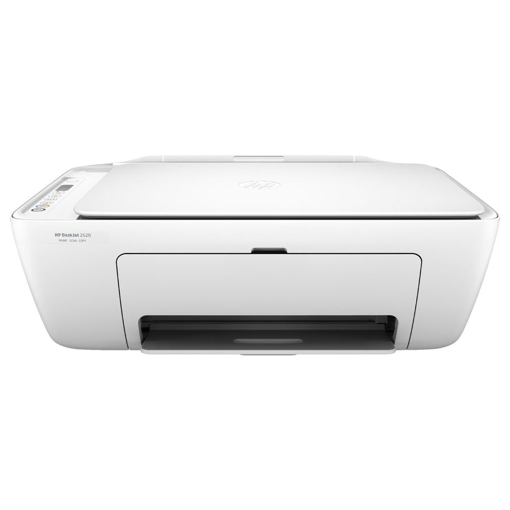 HP DeskJet 2620 All-in-One Wireless Inkjet Printer + Free Printer Cable - White