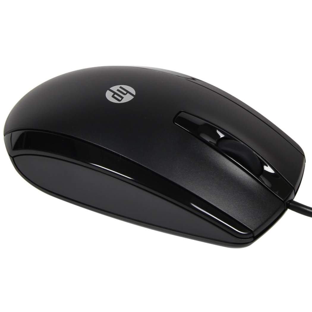 HP X500 High Quality Precision Optical Wired USB Mouse - Black