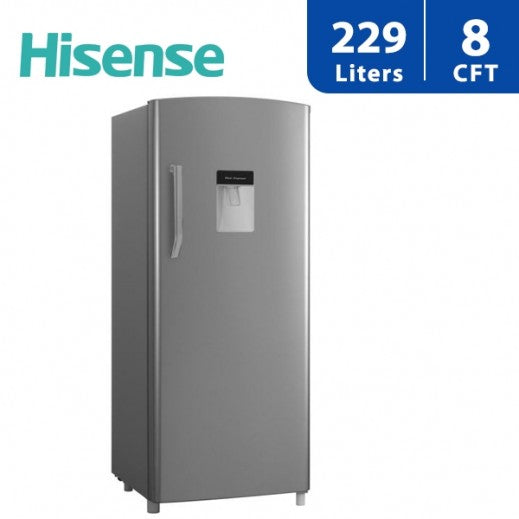 Hisense 229L Single Door Fridge With Water Dispenser - Grey