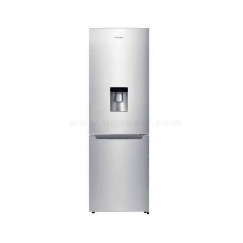Hisense 419L Double Door Refrigerator With Water Dispenser - Silver