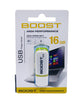 Boost 16GB 2.0 USB Flash Drive - White