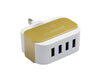 REGRESI 4USB Fast Charging Adapter With Micro USB Cable - White