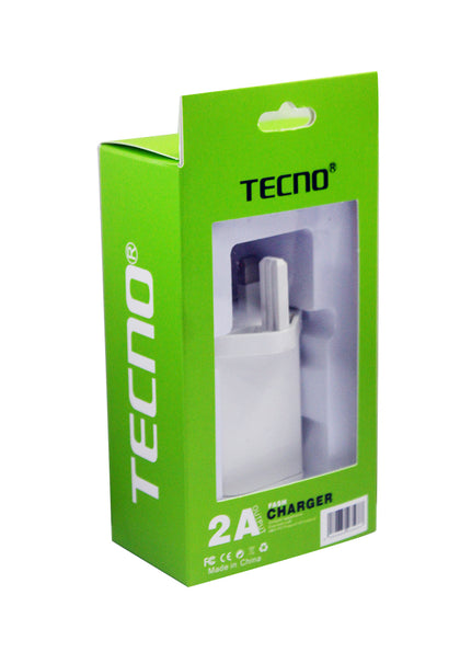 TECNO Fast Adaptive Charger With Micro USB Cable - White