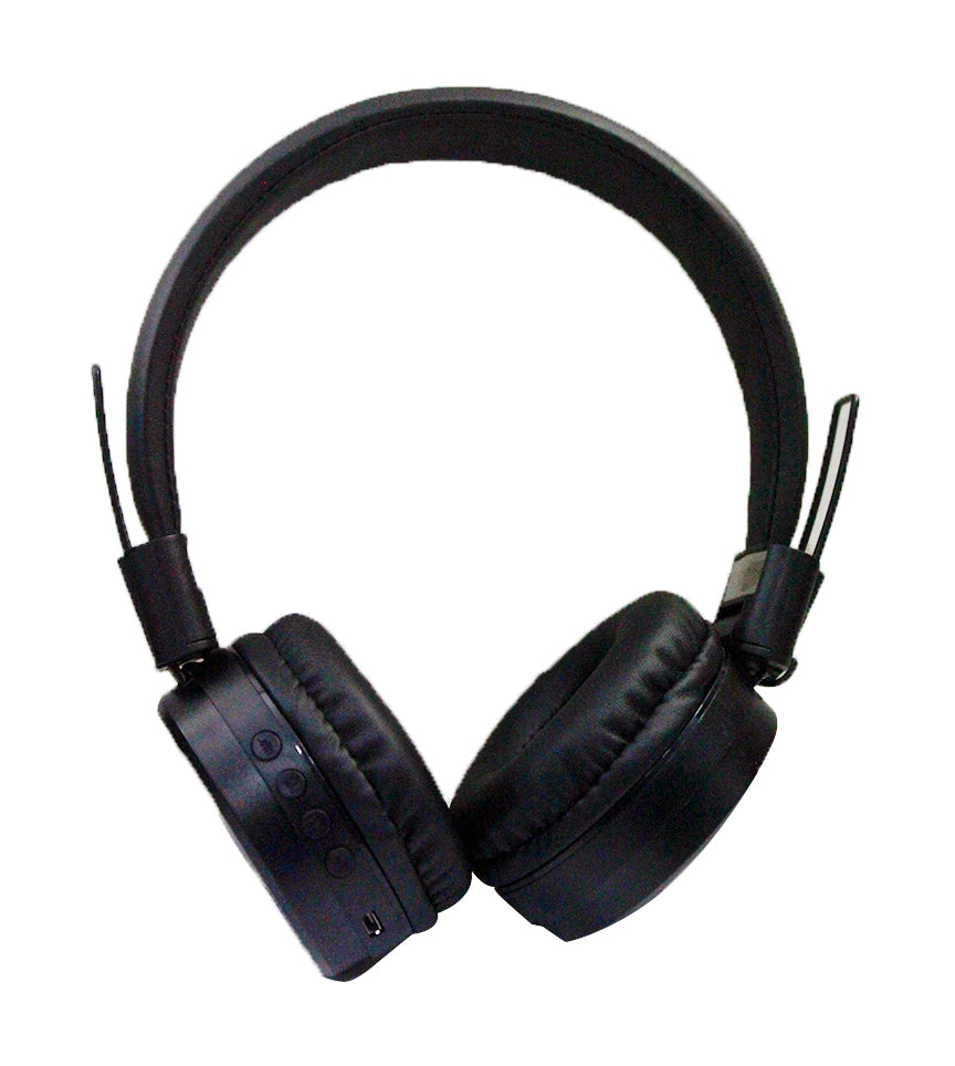 L100X Wireless 5.0 On-Ear Headphone  Stereo Sound Collapsible Headband 3 Hour Playback 3.5MM Aux -in Bulit in Mic - Black