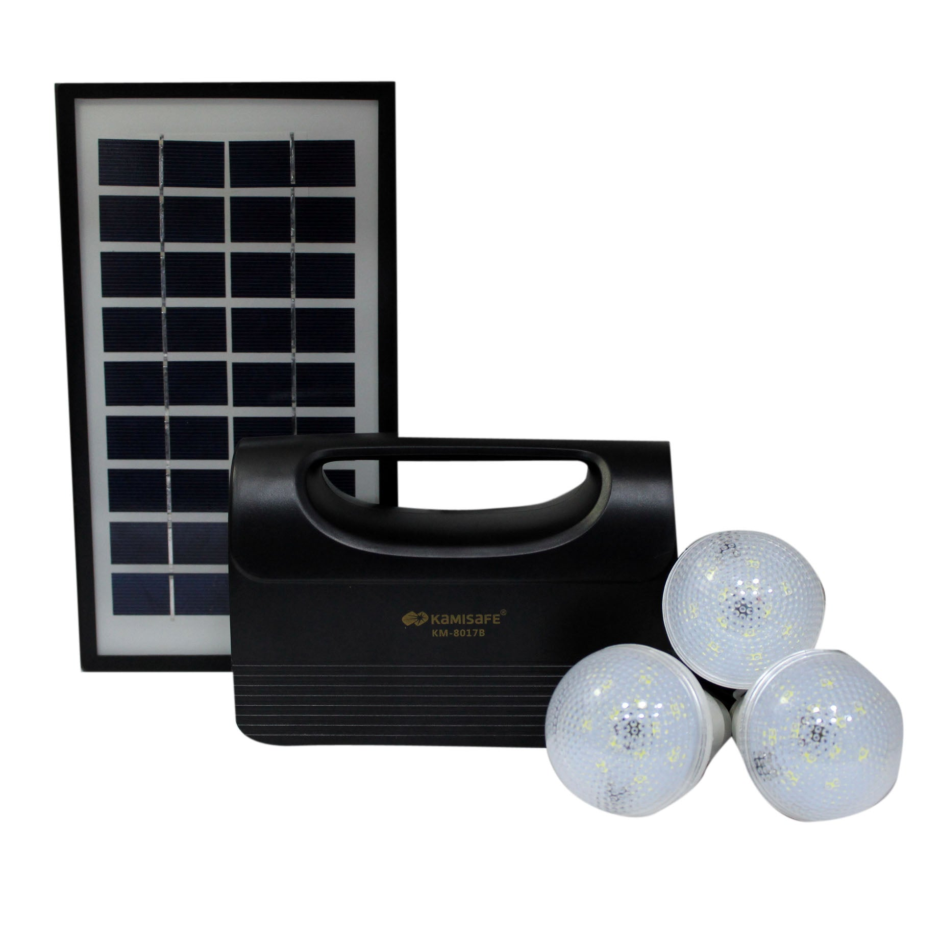 Kamisafe KM-8017 Lighting Solar Kit - Black