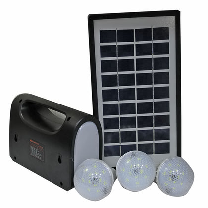 Home Solar Lighting System KM-8017 - Black