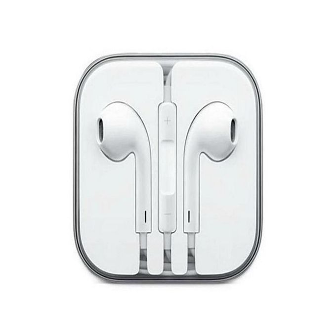 Handfree In-Ear Earphones Compatible With Iphone, Ipad & Android Smart Phones - White