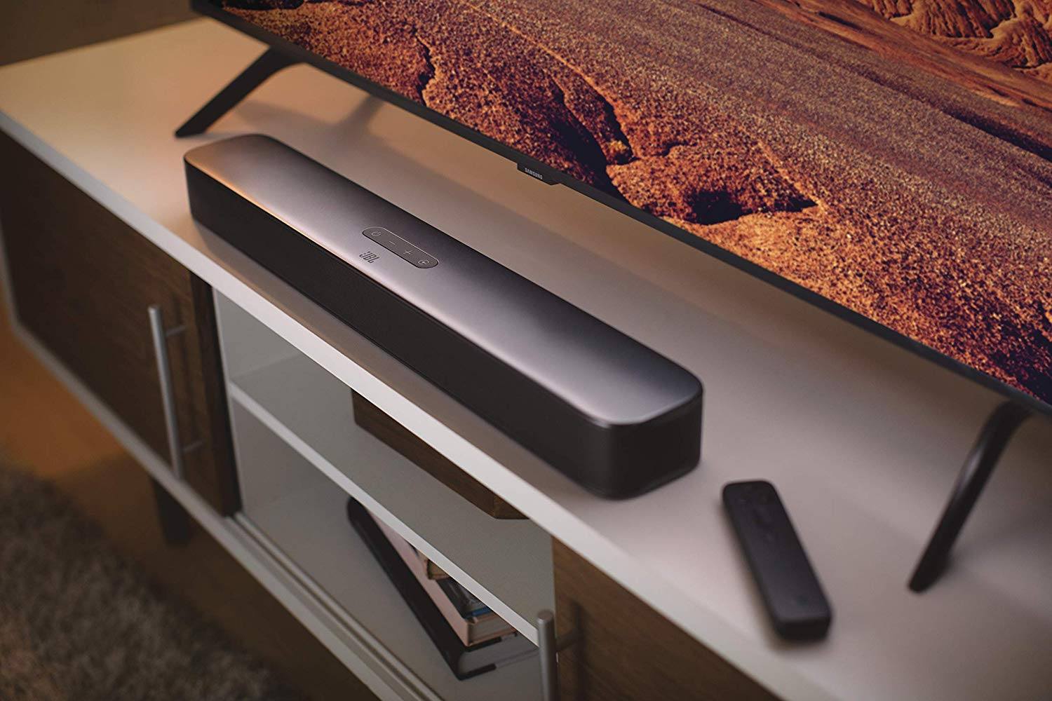 JBL 2.0 Channel All-in-One Compact Soundbar - Black