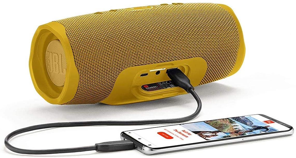 JBL Charge4 Waterproof 7500mAh Portable Speaker - Yellow