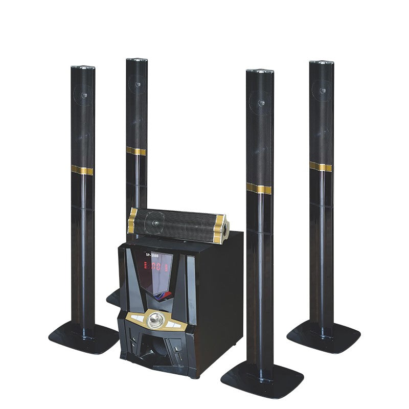 JERRY POWER JR-5500 Surround Sound 5.1 Subwoofer Active Home Theater System - Black,Gold