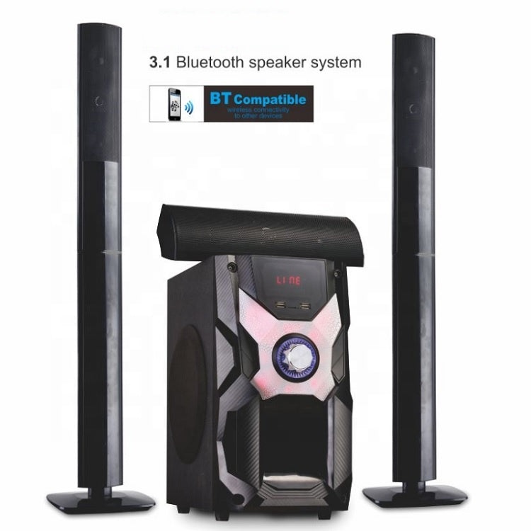 JP-3011 3.1 Channel Bluetooth Home Theatre System - Black