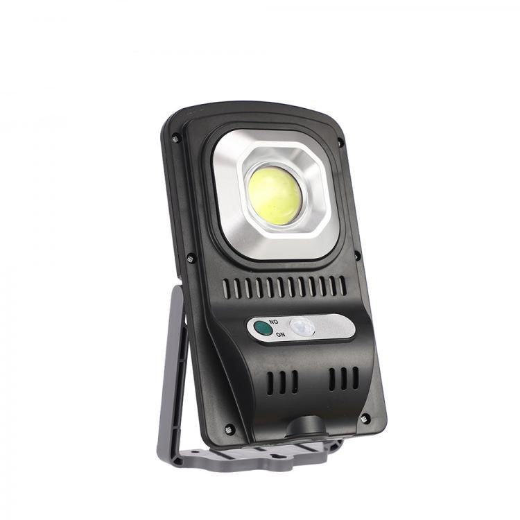 Solar Multi-Function Lightning Rechargeable Lamp With Motion Sensor - Black