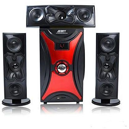 JERRY POWER JR-301 HD 3.1 Channel Multimedia Home Theater System - Black,Red