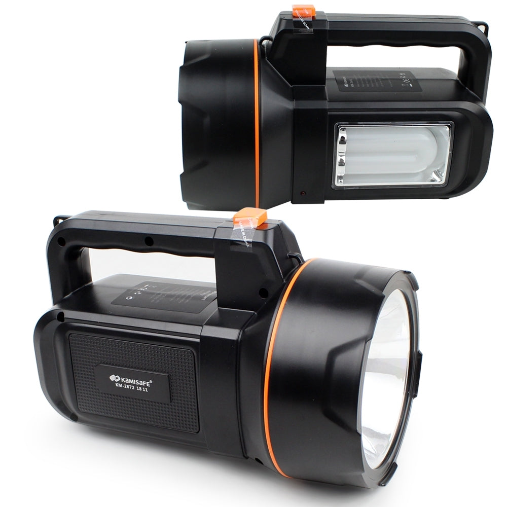 Kamisafe KM-2672 Rechargeable Portable Lamp - Black