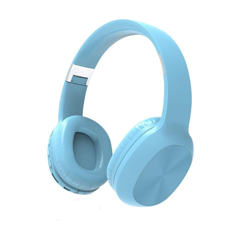 KD48 Bluetooth v5.0 Wireless X-Bass HiFi  Over-Ear Headphones - Blue