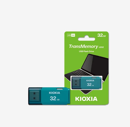Kioxia U202 TransMemory 32GB USB2.0 Flash Drive - Light Blue