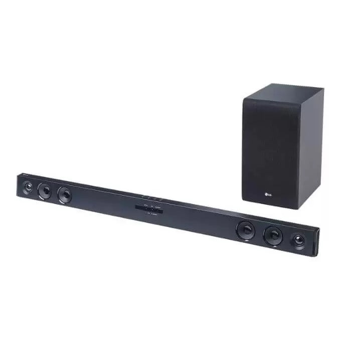 LG SJ3 300W, Adaptive Sound Control, TV Sound Sync 2.1Ch Sound Bar - Black