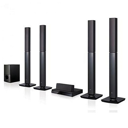 LG LHD657 5.1CH Blueray DVD 3D X-Bass Bluetooth Powerful Sound, 1000W Home Cinema Tallboy Series (QR/Bar Code Scan) - Black