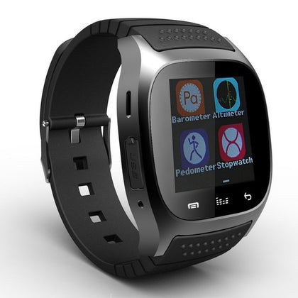 M26 Bluetooth Sport Unisex Wrist Smart Watch - Black