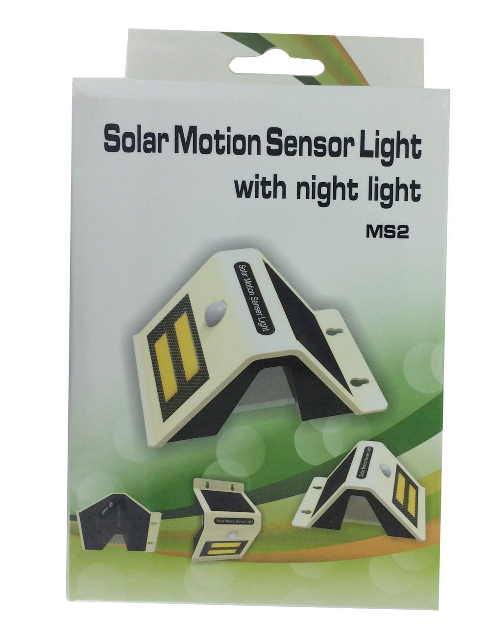 4PACK Solar Motion Sensor With LED Night Light - White