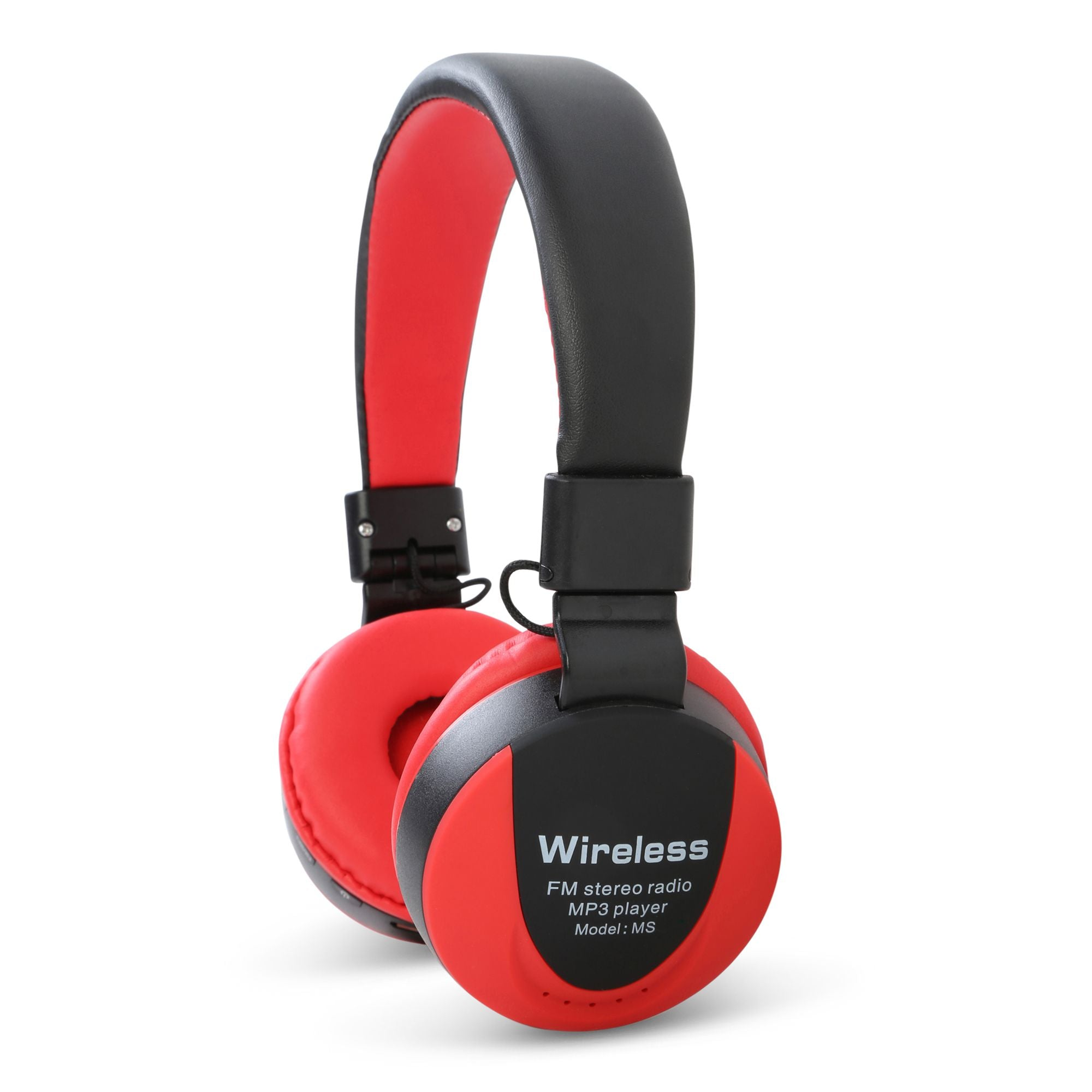 Generic Bluetooth Wireless HD Bass Dolby Headphones For PC And All Smartphones, MS -771A - Red,Black