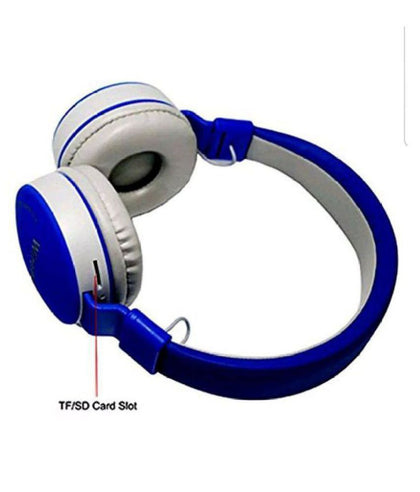 Bluetooth Wireless Fully Dolby Headphones for PC And All Smartphones -MS-881A - Drak Blue,Grey