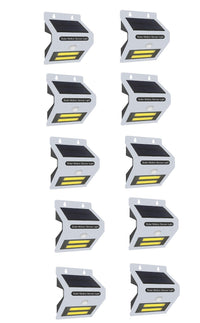 10PACK Solar Motion Sensor With LED Night Light - White