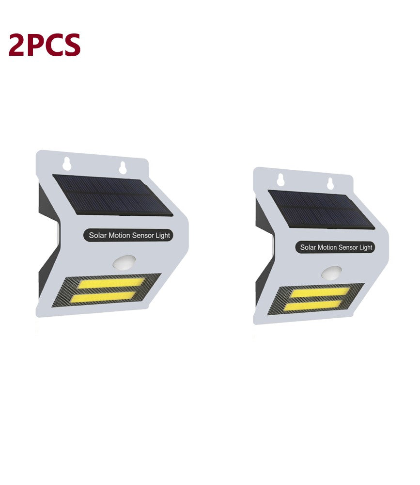 2PCS Solar Motion Sensor With LED Night Light - White