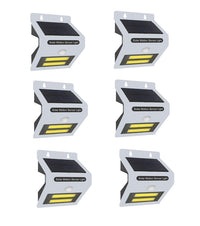 6PACK Solar Motion Sensor With LED Night Light - White
