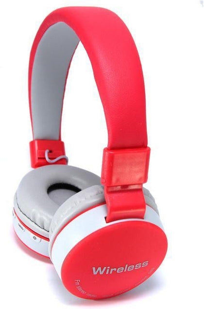 Original MS-881A Bluetooth Wireless Fully Dolby Headphones For PC And All Smartphones - Red,Grey