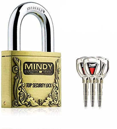 Mindy Anti-Theft Top Security Lock - Gold
