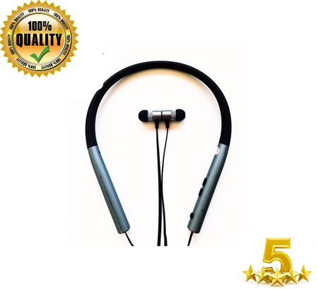 BT Earphone Bluetooth Sports Earbuds Stereo Over-Ear Wireless Neckband Headset - Black