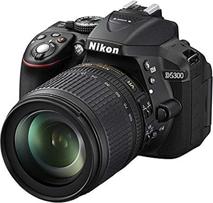 Nikon D5300 24.2MP Digital SLR Camera With AF-P 18-55mm f/ 3.5-5.6g VR Kit Lens, 16GB Card and Camera Bag