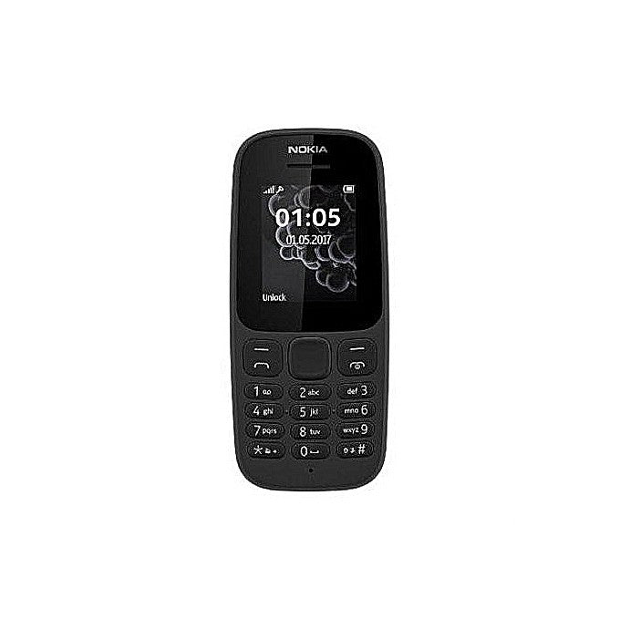Nokia 105 DS 1.8'' Dual Sim, FM Radio, 800MAH Battery, Torch light Phone  - Black