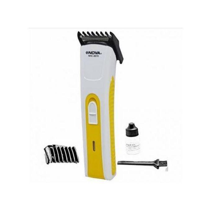 Nova Rechargeable Hair Shaver And Beard Trimmer - White,Yellow