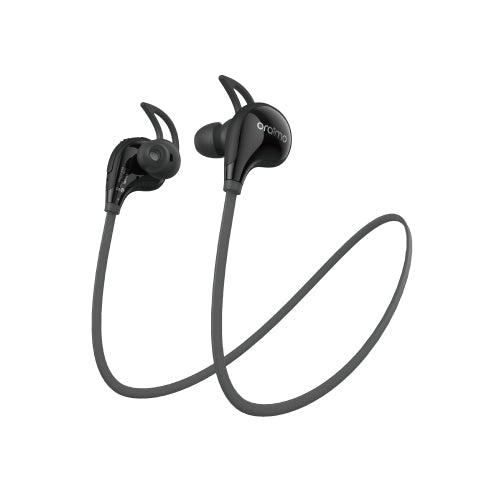 Oraimo OEB-E53D Wings Sports & Outside in-Ear Bluetooth Wireless Headphones With Remote Control & Mic - Black