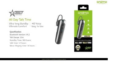 ORAIMO OEB-E36S Elite 2 Wireless Headset - Black,Silver
