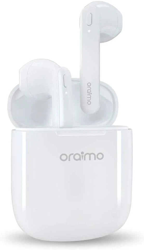 Oraimo BT Freepods OEB-E98D TWS Wireless  Apple Style Ear Buds With Mic - White
