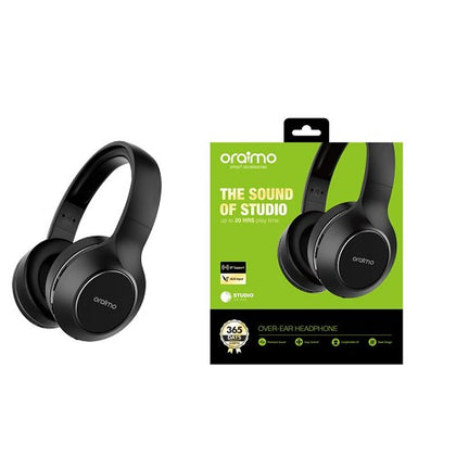 Oraimo OEB-H66D Studio Over-Ear Bluetooth Headphones - Black