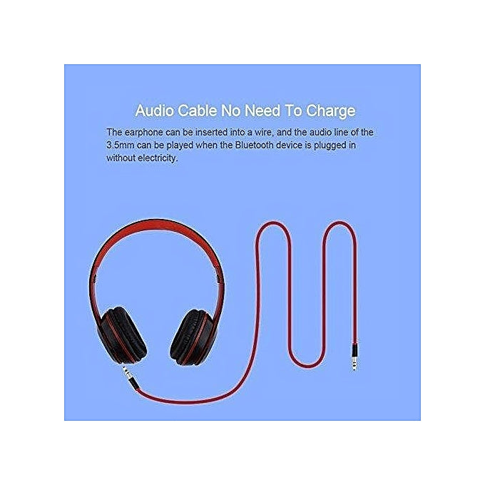 Generic P47 Bluetooth 4.2 Headphone Wireless Earphone Hands Free Music Headphones - Red,Grey