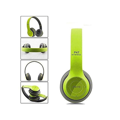 Generic P47 Bluetooth 4.2 Headphone Wireless Earphone Hands Free Music Headphones - Green