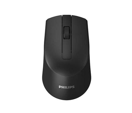 PHILIPS 2.4G Wireless 3 Button Optical Mouse, SPK7374 - Black